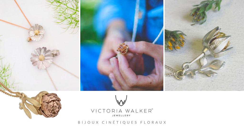 Bijoux cinétiques floraux de victoria walker