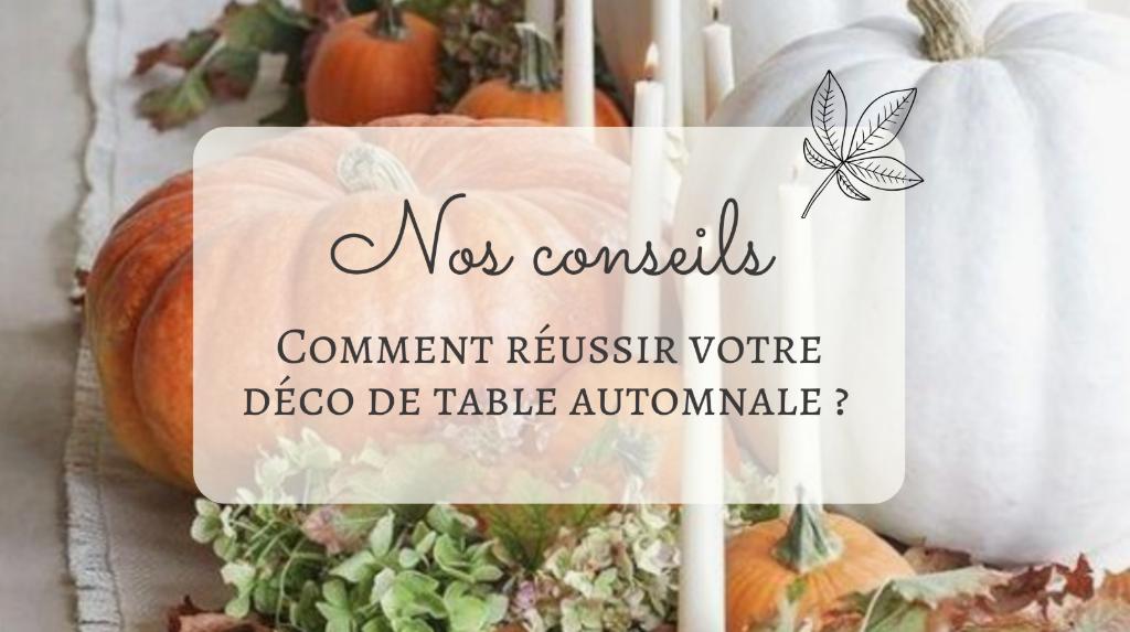 Décoration d'automne table citrouille fleurs