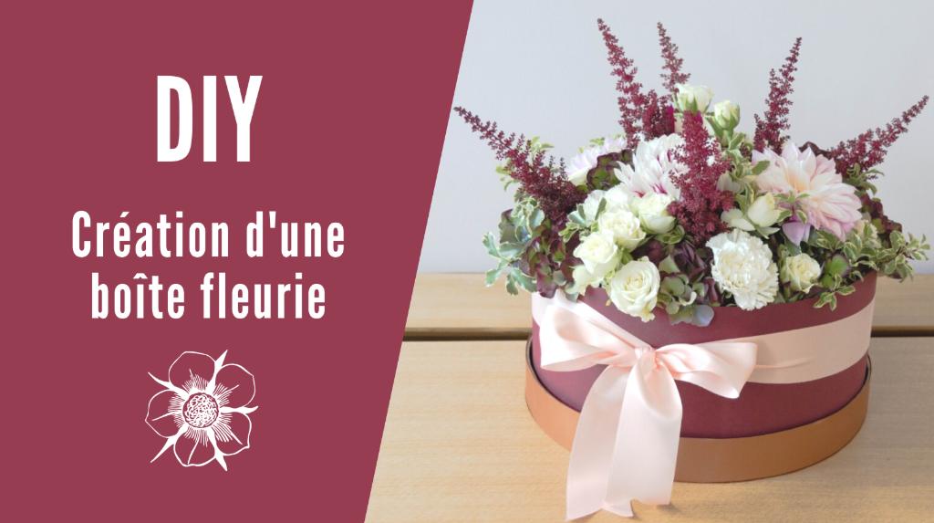 DIY comment créer une boite de fleur fleurie